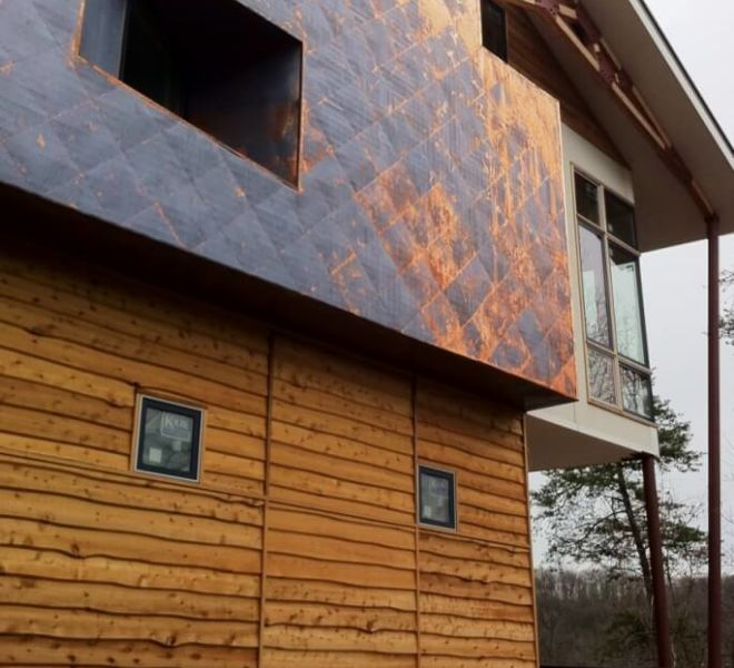 Copper Cladding Changing Color