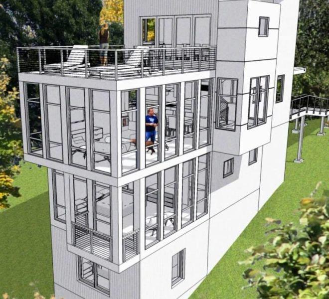 Post Tree House Window View