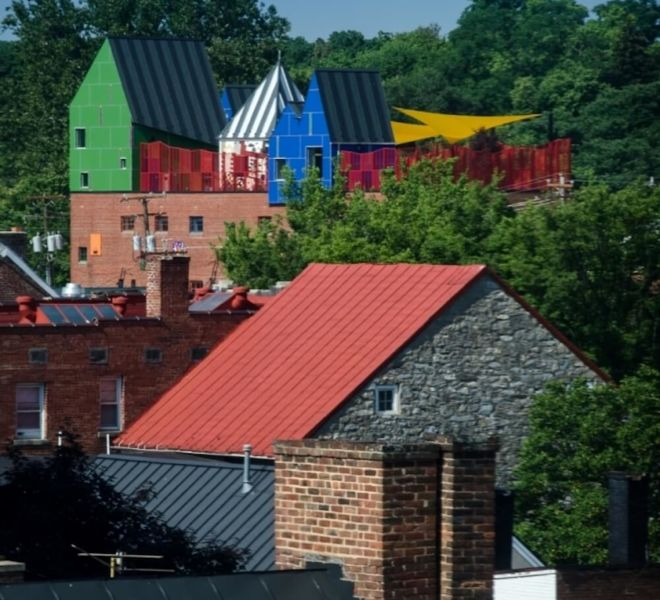Shenandoah Valley Discovery Museum roof tops