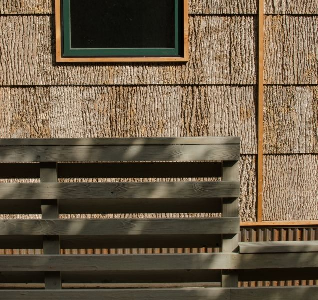 Camusrory House Bark Siding