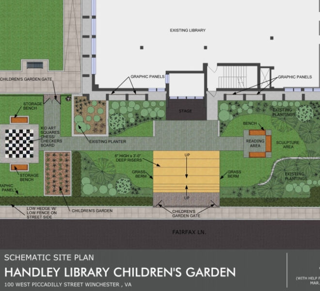 Handley Library Children Garden Design 1