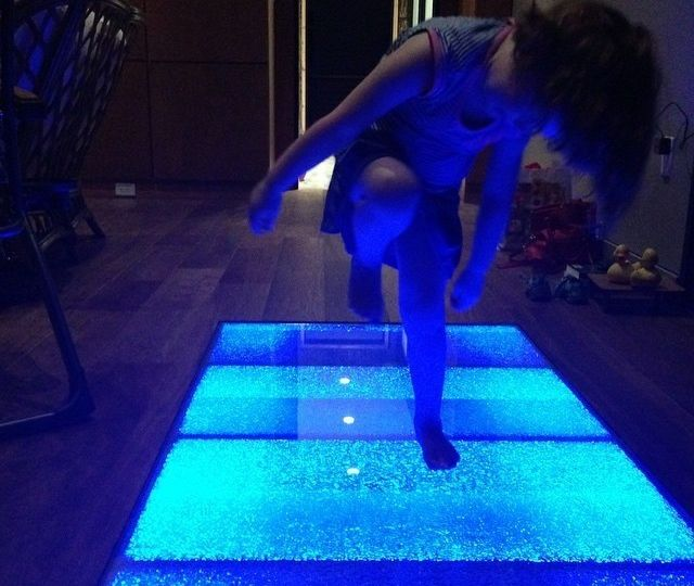 Mairi on glass floor