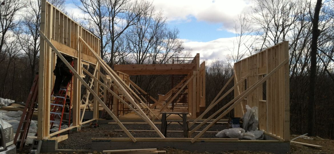 Framing the house