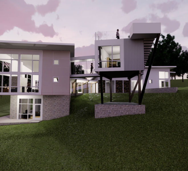 Rear Elevation Dusk 3